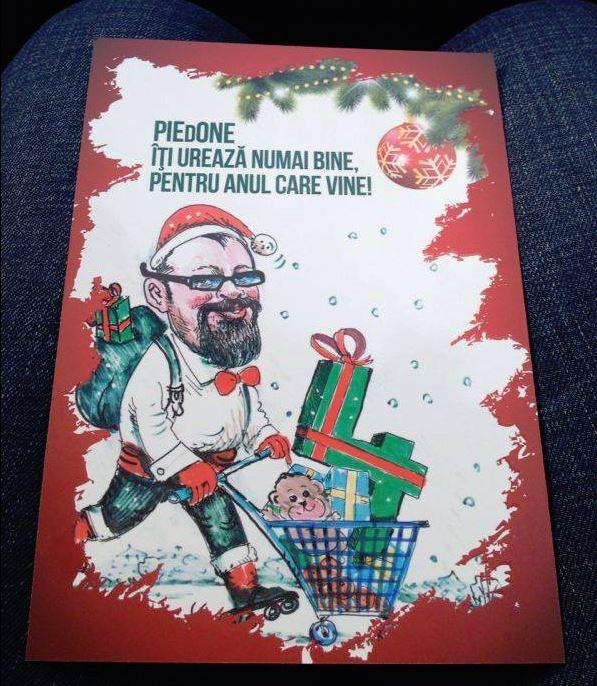 De Crăciun, le trimitea apropiaților felicitări cu mult umor. Făcut pe seama lui