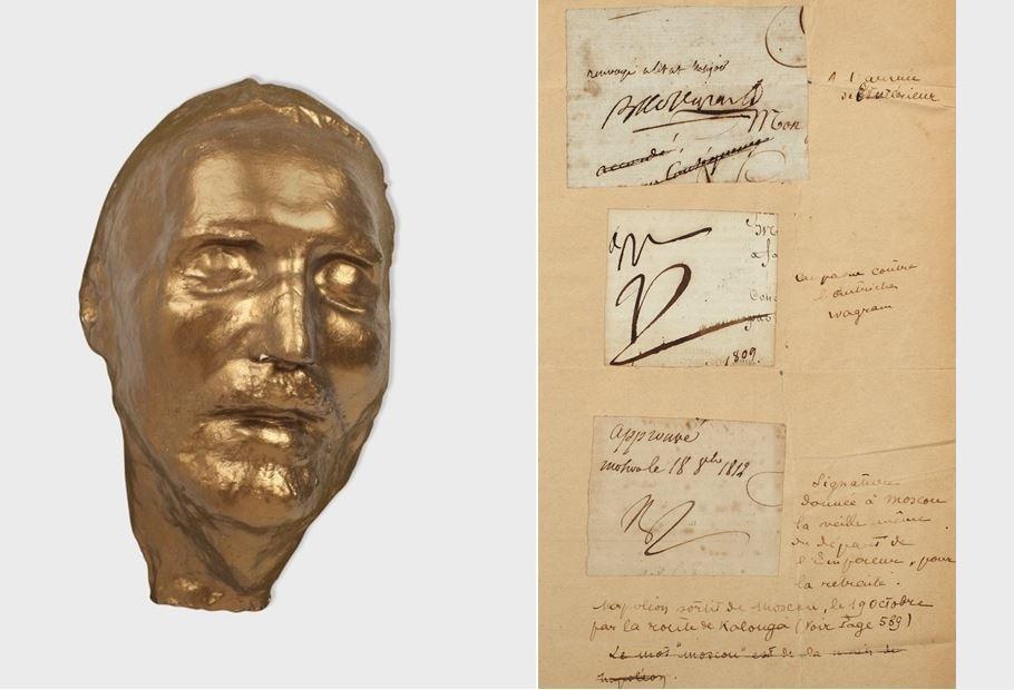 Masca mortuară a lui M. Eminescu și semnăturile olografe ale lui Napoleon Bonaparte s-au vândut cu 8.600 de euro