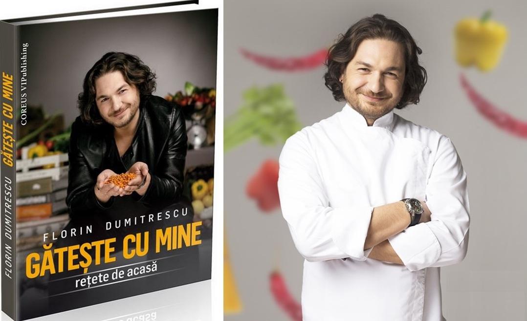 """Florin Dumitrescu a lansat în aprilie 2016 cartea Gătește cu mine, care conține 42 de rețete """"de acasă"""""""