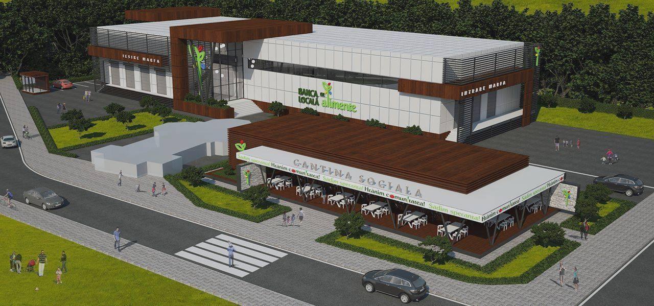 Banca de alimente din Sectorul 6 va avea cantină socială, bucătărie, sală de evenimente, spații de depozitare, de refrigerare și congelare a alimentelor, dar și birouri
